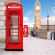 Stock Photo: Red phone box