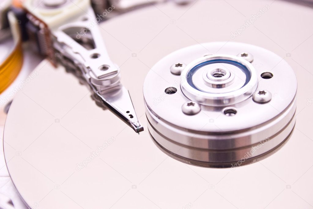 HDD Hard Disk Drive (inside view) — Stock Photo #1964783