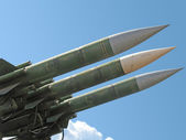 Anti-aircraft missiles — Stock Photo