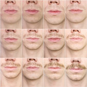 Mustache growing — Stock Photo
