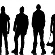 Stock Photo: Silhouette of 10