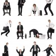 Collage of businessmen — Stock Photo