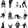 Collage of businessmen — Stock Photo #2022426