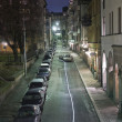 City street at night - Foto Stock