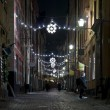 Christmas street at night — Stock Photo