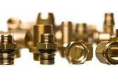 Heating and sanitation screws — Stock Photo