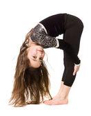 Young girl doing gymnastics — Stock Photo