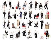 Collage van actieve — Stockfoto