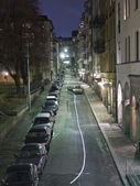 City street at night — Stockfoto