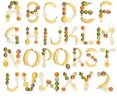The Alphabet formed by fruits — Stock Photo