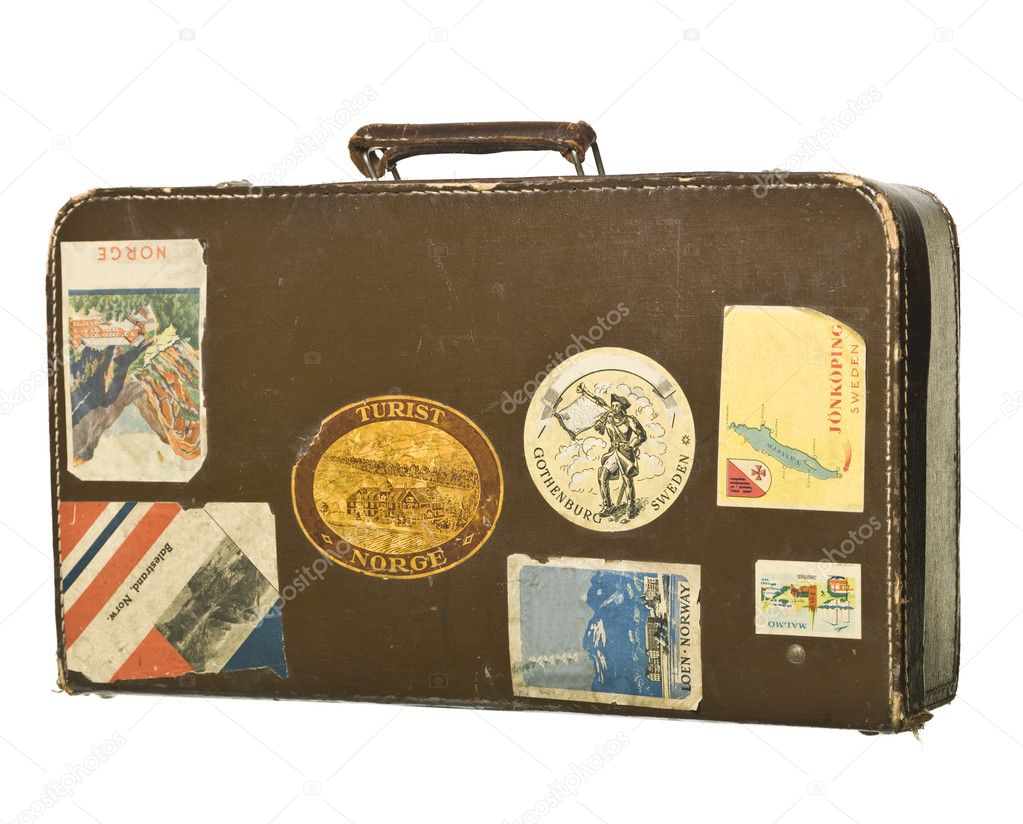 Retro Styled suitcase isolated on white background — Stock Photo #2022452