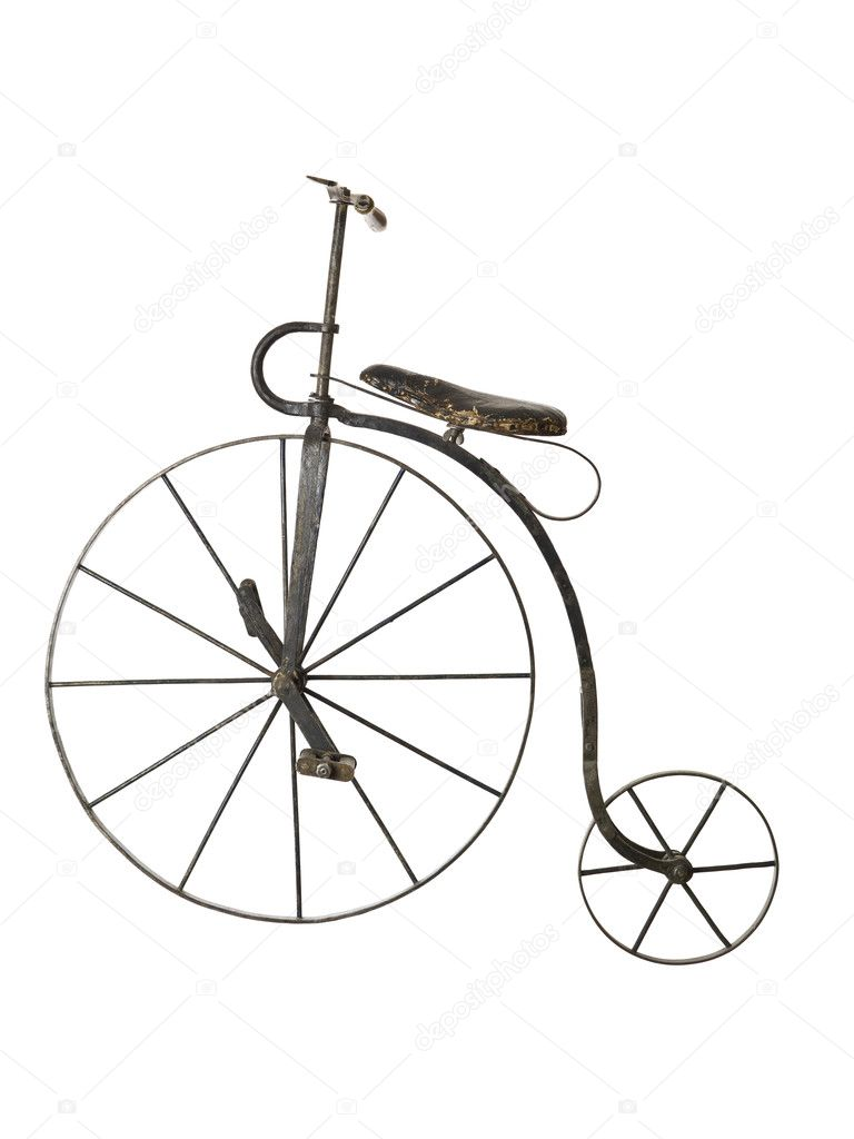 Old bicycle isolated on a white background — Stock Photo #2024182