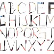 The Alphabet formed by tools — Stock Photo