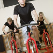 Group of having spinning class — Stock Photo