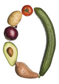 O made out of vegetables — Stock Photo