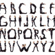 The Alphabet formed by humans. — Stock Photo