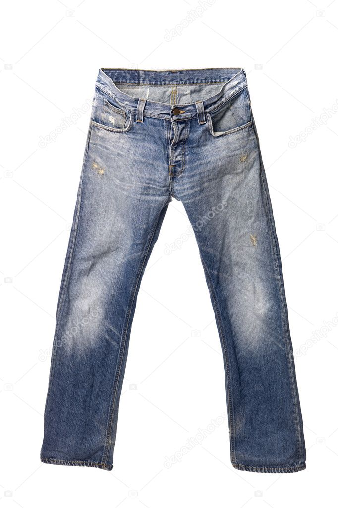 Blue jeans isolated on white background — Stock Photo #2064276