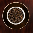 Stock Photo: coffe beans in cup