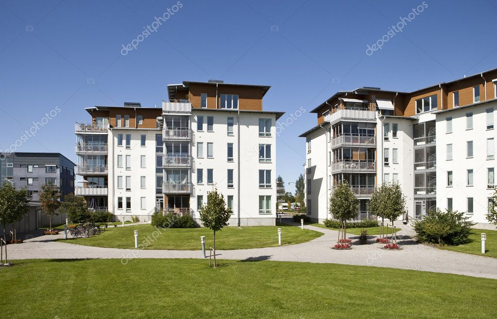 Modern apartments — Stock Photo #2101632
