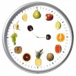 Friutclock — Stock Photo