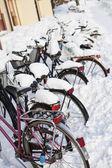 Bicicletas no inverno — Foto Stock