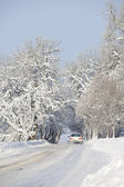 Car on Winter Road — Stock Photo