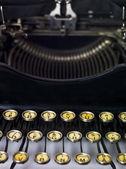 Vintage typewriter close up — Stock Photo