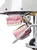 Vintage artificial teeths — Stock Photo