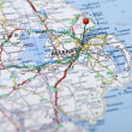 Belfast map — Stock Photo