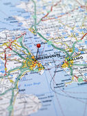 Copenhagen map — Stock Photo
