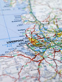 Liverpool map — Stock Photo