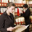 Women at library — Stock Photo
