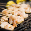 Barbecue Shrimp Skewers — Stock Photo
