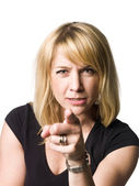 Pointing woman — Stock Photo