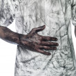 Foto Stock: Dirty hand