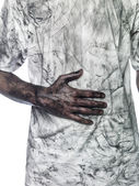 Dirty hand — Stock Photo