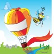 Royalty-Free Stock Vector Image: Bee and balloon