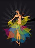 Танцовщица, цыганка — Stock Vector
