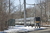 Silver train — Stock Photo