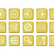 Icon set gold — Stockfoto