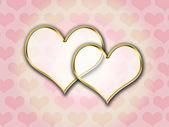 Corações de ouro — Foto Stock