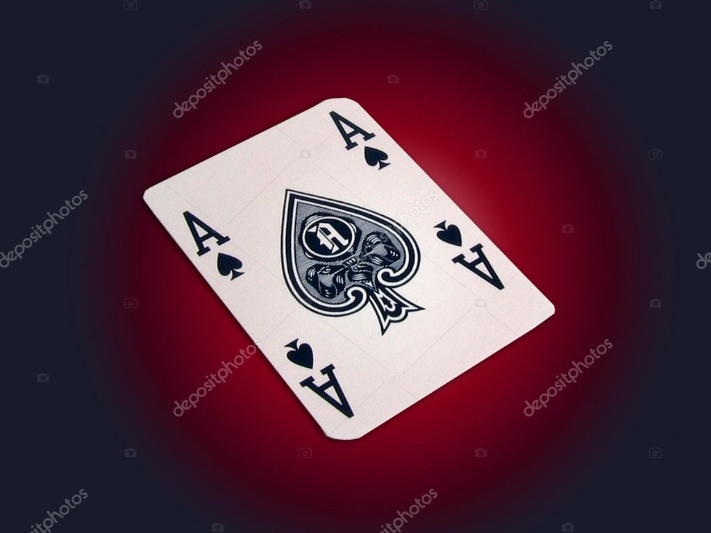 Playing card - Ace of spades  Stock Photo #2015830