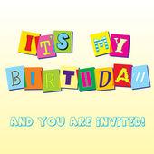 Födelsedag inbjudan mall — Stockvektor