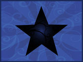 Blue star — Vector de stock