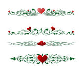 Valentine borders — Vector de stock