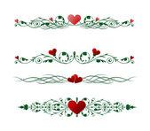 Valentine hranice — Stock vektor
