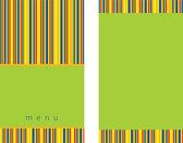 Zielone menu szablon — Wektor stockowy