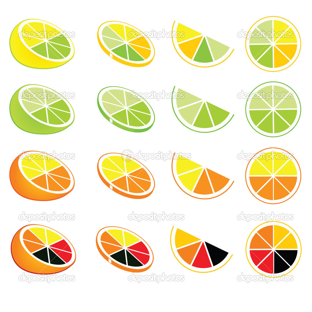 Vector lemon and orange logos and icons  Stock Vector #2073718