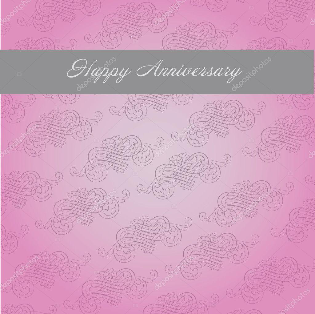 Happy anniversary card u2014 Stock Vector u00a9 elly_l #2074371