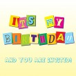 Birthday invitation template — Stock Vector